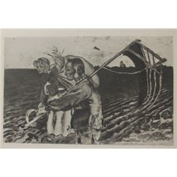 The fields - Lithograph -  Souris