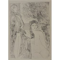 two nudes lithograph  -  picasso