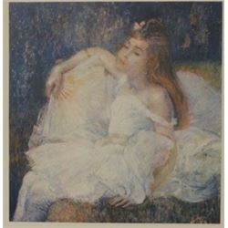 Girl in White - Lithograph -  Revior