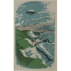 Flying machine - Lithograph -  Legrand