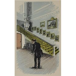 The Butler - Lithograph -  Legrand