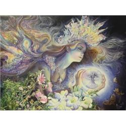 Diamond Tiara fairy - Lithograph on canvas -  Jo