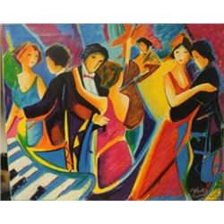 The Tango Club Lithograph on canvas -  Max, Phelp
