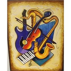 Instruments  - Lithograph on canvas  Nikiforov