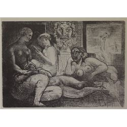 four nudesa and a head lithograph  Picasso