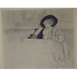 Dinner - Lithograph -  legrand
