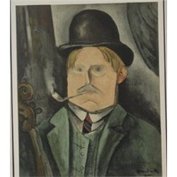 Portrait of the arist - Lithograph -  Maurice de Vlaminck