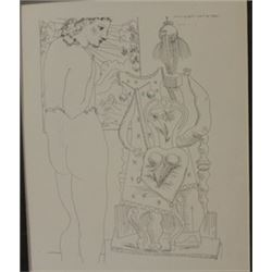 Model and seated Sculpture -  Picasso