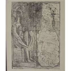Sculpture and vase of Flowers - Lithograph -  Picasso