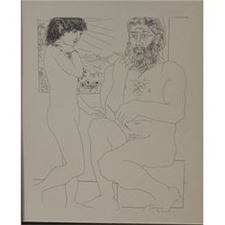 Sculptor and model  window lithograph- Picasso (2)