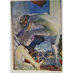 Nude stretch  - Signed Lithograph -  Bonnard