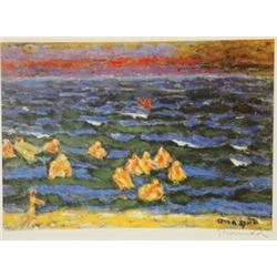 On the lake  - Signed Lithograph -  Bonnard
