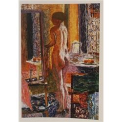 The toilette  - lithograph -  Bonnard