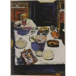 The Table - Lithograph -  Bonnard