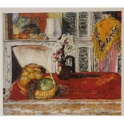 Fruit Basket - Lemons & pear - Lithograph - Bonnard