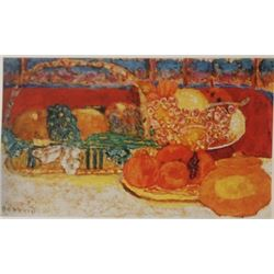 Still life with fruit - Lithograph -  Bonnard