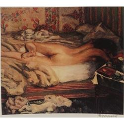 Nude Lying in bed - Signed Lithograph -  Bonnard