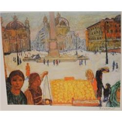 The Plaza  - Signed Lithograph -  Bonnard