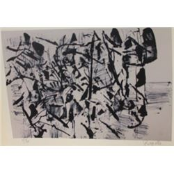 Abstract Lithograph  Artist Riopelle