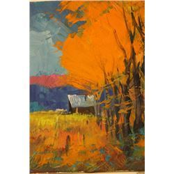 """"""" COTTAGE SURROUNDED BY GOLD""""  BY MICHAEL SCHOFILED"""