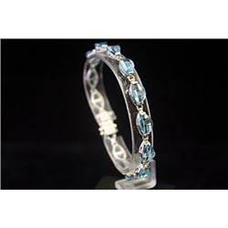 Gorgeous Royal Blue Topaz Silver Bracelet