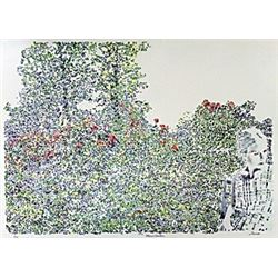 "Lithograph, Entitled: ""Maries Garden"""