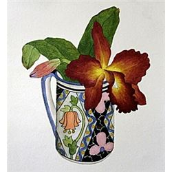 "Print ""Orchid and Spanish Cup""  Margo Bors"