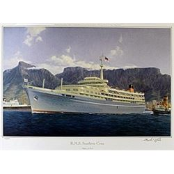 "Lithograph ""R.M.S. Southern Cross""  Stephen J. Card"