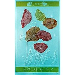 "Embossed Lithograph ""Poppy""  Hari Hockey"