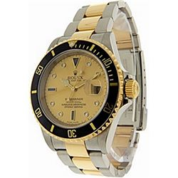 Mens DiamondDial Submariner Rolex