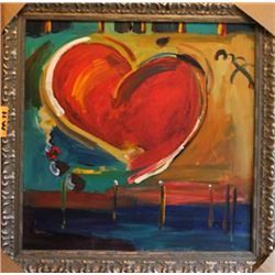 Signed Oil on Canvas Peter Max