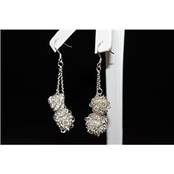 Fine Cluster Silver Earrings (16E)