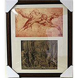 Framed 2-in-1 Engravings (95E-EK)