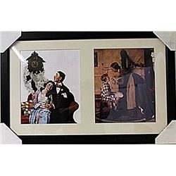 Framed 2-in-1 Norman Rockwell Lithographs (134E-EK)
