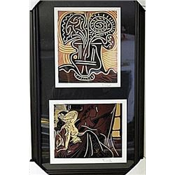 Framed 2-in-1 Picasso Lithographs (175E-EK)