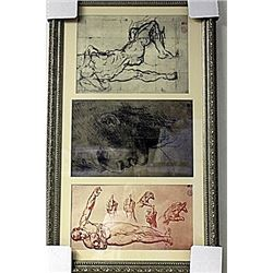 Framed 3-in-1 Engravings (247E-EK)