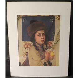 """""""CHILD WITH LULAV"""" By ISIDOR KAUFMAN (N)"""
