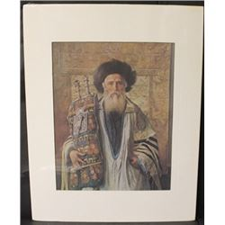 """RABBI WITH TORAH"" By ISIDOR KAUFMAN (N)"