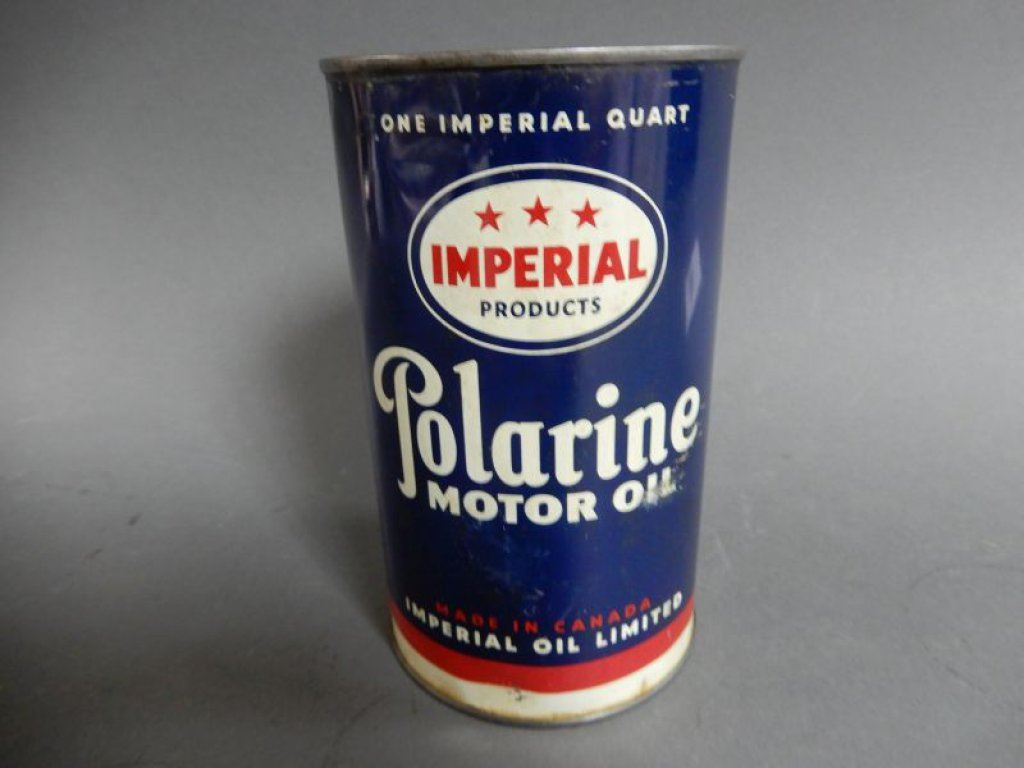 Imperial 3 star polarine motor oil imp qt can embossed top for Best motor oil in the world