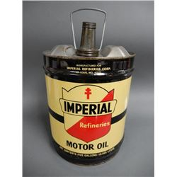 1974 imperial motor oil 5 gallon can embossed top 1974 for Best motor oil in the world