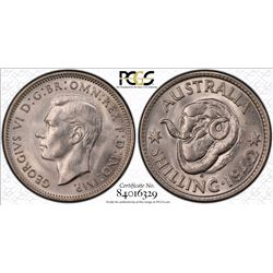 1942 S Shilling MS 64