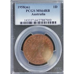 1958M Penny MS 64 RB