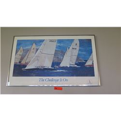 "Framed Poster: 1992 America's Cup Defense 37.5"" x 23"""