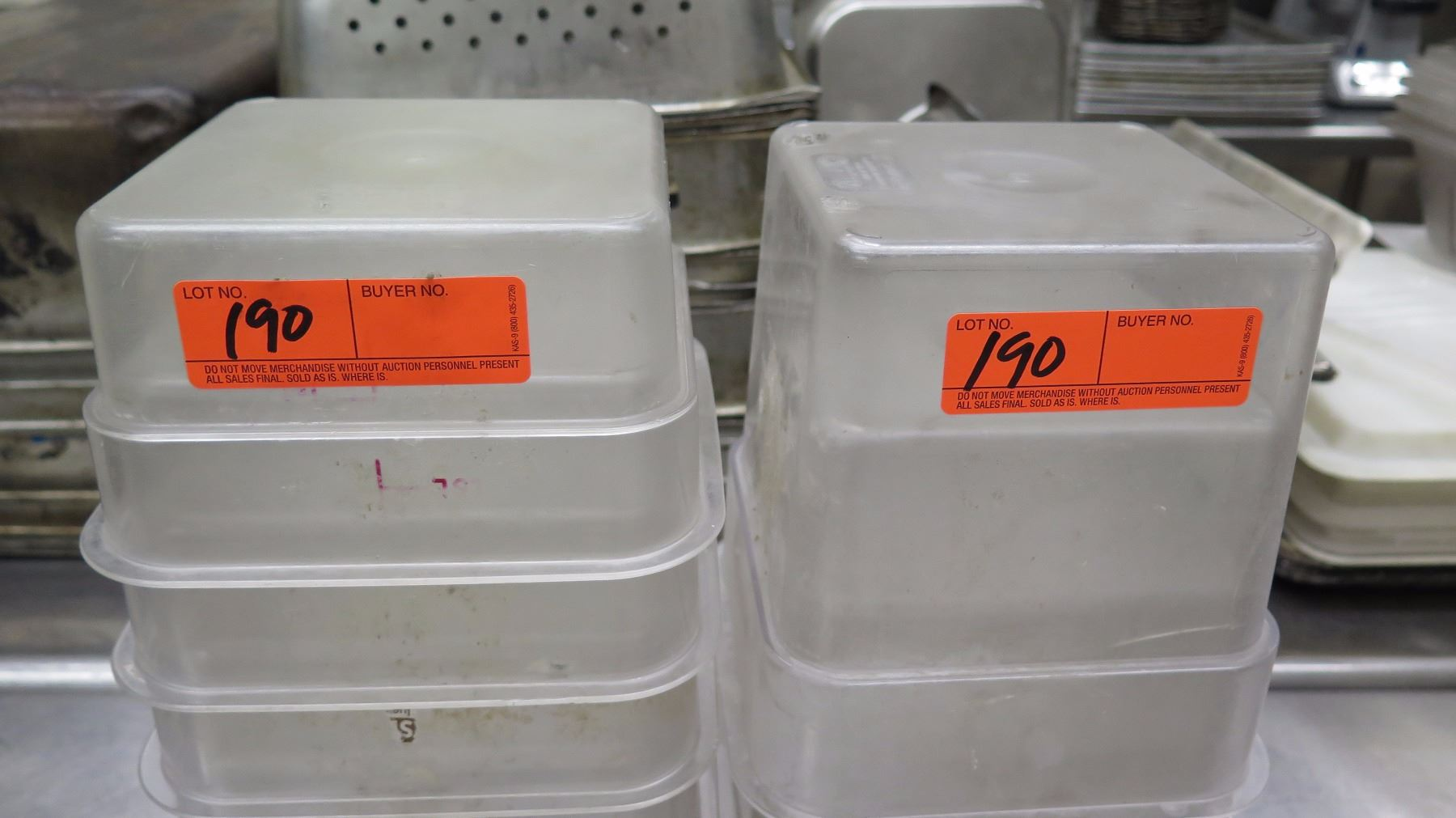 Lot of Plastic Food Storage Mixing Containers Oahu Auctions