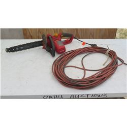 Homelite Ut43103 Electric Chain Saw w/Extension Cord