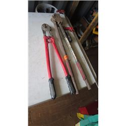 Qty 2 Long-Handled Bolt/Wire Cutters and Misc. Tool