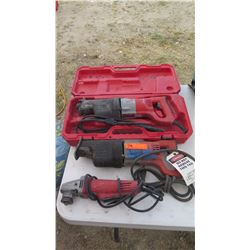 Qty 3 Misc. Milwaukee and Sawzall Power Tools