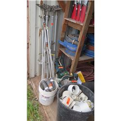 Huge Lot of Misc. Irrigation Items, Water Sprinkler Attachments