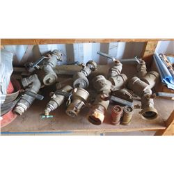 Misc. Lot of Brass/Steel Pipe Fittings, Valves, etc.