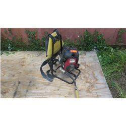 OZTEC BP-50A2.5 HP Backpack Concrete Vibrator w/Honda Motor (runs for a while then dies out)